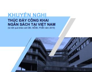 Khuyến nghị Thúc đẩy công khai Ngân sách tại Việt Nam