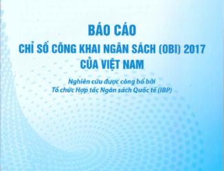 Báo cáo chỉ số công khai ngân sách (OBI) 2017 của Việt Nam