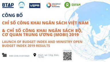 Lễ công bố Chỉ số công khai ngân sách (OBI) Việt Nam và Chỉ số công khai ngân sách Bộ, cơ quan Trung ương (MOBI) năm 2019