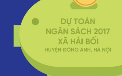 Báo cáo ngân sách nhà nước dành cho công dân năm 2017 xã Hải Bối