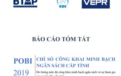 Báo cáo tóm tắt Chỉ số công khai ngân sách cấp tỉnh POBI 2019