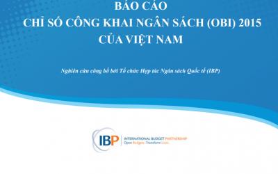 Báo cáo Chỉ số công khai ngân sách (OBI) 2015 của Việt Nam