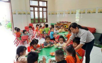 Giám sát công khai minh bạch và ATVSTP trong thực hiện bữa ăn bán trú cho trẻ tại Trường mầm non Hoa Mai, Phường 3, Thị xã Quảng Trị, tỉnh Quảng Trị